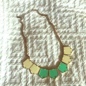 Beautiful geometric statement necklace